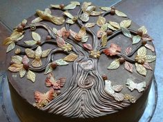 40th birthday tree of life cake