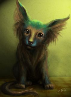 This little dog is the inspiration behind the story-creatures called Foundlings.