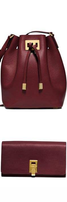 Michael Kors Miranda Medium Drawstring Messenger Bag, Claret