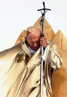 Juan Pablo II looked at his anguished face...most probably sorrow for lost souls...