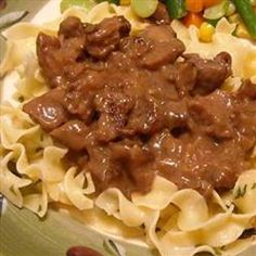 Pressure Cooked Beef and Noodles