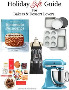 Holiday Gift Guide for Bakers and Dessert Lovers | from A Cookie Named Desire