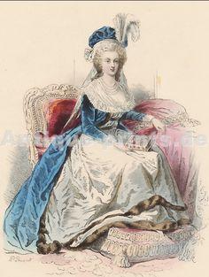 María Antonieta, reina de Francia, . Litografía von Polidoro Pauquet . 1864.