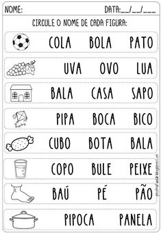 Portuguese Lessons, Learn Portuguese, Fall Preschool Activities, Preschool Printables, Kindergarten Math Worksheets, Classroom, Education, Maria Clara, Language Activities