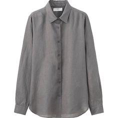 Women's Premium Linen Long Sleeve Button-Front Shirt   UNIQLO US