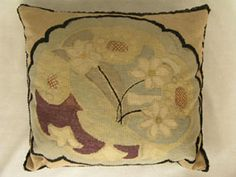 1925 Vanessa Bell cushion design worked by Duncan's mother, Ethel Grant, on canvas with wool, as were some of their other designs. Textile Patterns, Textile Design, Textiles, Duncan Grant, Vanessa Bell, Bloomsbury Group, Garden Painting, Art Furniture, Modernism