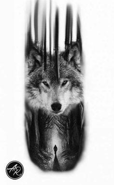 Tattoo ideas wolf wolves tatoo 42 Super ideas - Famous Last Words Wolf Tattoos Men, Animal Tattoos, Leg Tattoos, Black Tattoos, Body Art Tattoos, Tatoos, Wolf Sleeve, Wolf Tattoo Sleeve, Sleeve Tattoos