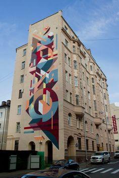 graffiti kunst moskau russland abstrakt
