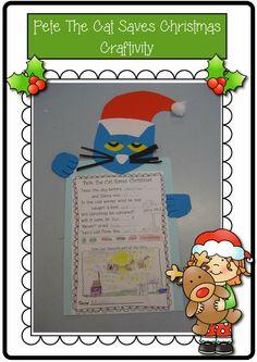 Classroom Fun: Pete the Cat saves Christmas Freebie