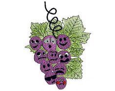 Grapes Machine Embroidery  pdf sewing patterns  by sewbizzynancy