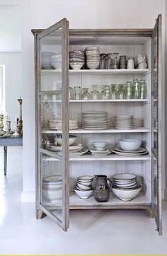 Stunning glazed crockery cupboard.