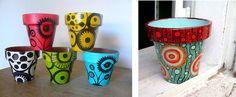 Image result for cacharros de barro decorados con mosaiquismo