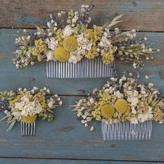 floral hair comb sunflower - Google Search