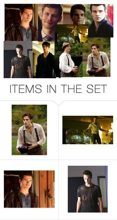 """TVD Guys"" by grandmasfood ❤ liked on Polyvore featuring art"