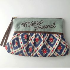 Cosmetic pouch olive  http://bonony.thebase.in