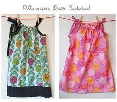 "Pillowcase Dress tutorial. I LOVE this project. As a result I am hosting a ""sewing party"" to benefit a non-profit, ""Little Dresses for Africa"", which sends donated pillowcase dresses to the girls and women of Africa"