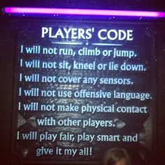 I will not... #playerscode Grown ups Part Trois lol #laserquest