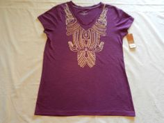 Sonoma Lifestyle Sz M Womens Top Shirt Purple Short Sleeve New With Tags #Sonoma #KnitTop #Casual
