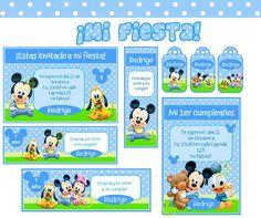 Kit Imprimible Mickey Mouse Bebe Tarjetas Y Mas Kits Personalizados