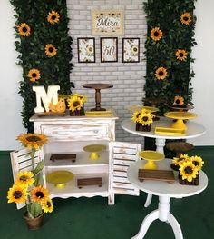Sunflower Birthday Parties, Sunflower Party, Sunflower Baby Showers, 18th Birthday Party, Birthday Party Decorations, Bridal Shower Party, Bridal Showers, Sunflower Wedding Decorations, Housewarming Decorations