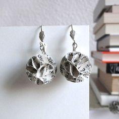 """Ohrringe - Upcycling-Ohrringe """"Buch #1"""" - ein Designerstück von Maria_Seidel bei DaWanda"""