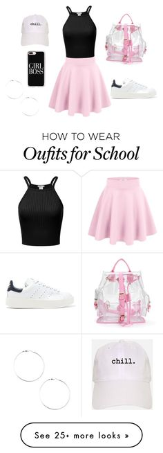 """Back to school look:2"" by makeupbylea on Polyvore featuring adidas Originals and Casetify"