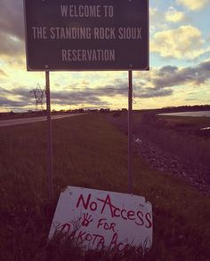 No Access For Dakota Access. #nodapl ✊ In solidarity with Standing Rock. ✊