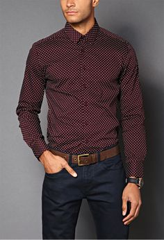 Polka Dot Slim Fit Shirt | 21 MEN - 2000063781 $19.80...