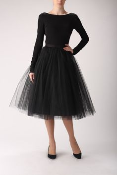 Tulle skirt, long petticoat, high quality tutu skirts, tulle tutu, tea length tutu