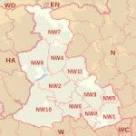 london-gutter -cleaning-Map-North-West