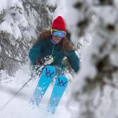 Skier Monica Purington #ski #powder #gnarlynutrition