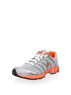K-Swiss Women's Running Shoe (Silver/Charcoal/Gator Orange) $60 today #sale