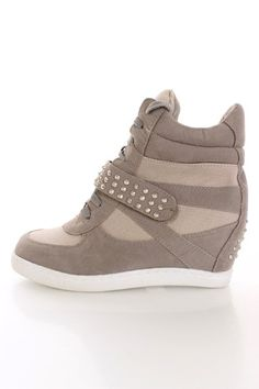 Taupe Studded Sneaker Wedges, Im sorry but I think that these are the ugliest things