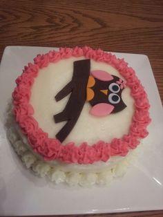 Owl smash cake girl