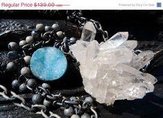 50 OFF SALE quartz druzy necklace Brazilian jewelry by BeijoFlor, $69.50