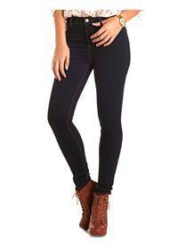 High Waist Skinny Jeans, High Waist Pants, High Waist Denim: Charlotte Russe