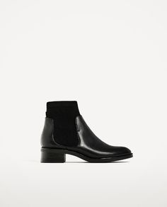 Image 2 of FLAT SOCK ANKLE BOOTS from Zara
