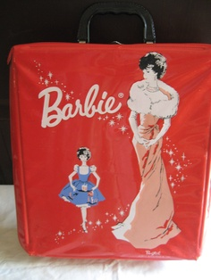 Vintage Barbie PonyTail Doll Case 163 Red. $22.00, via Etsy.