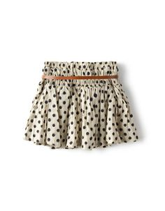 polka dots with a leather belt