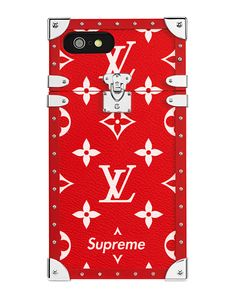 Louis Vuitton x Supreme phone case