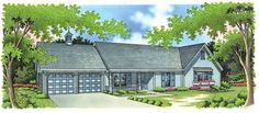 Eplans Ranch House Plan - Ranch-Style with Victorian Accents - 1898 Square Feet and 3 Bedrooms from Eplans - House Plan Code HWEPL05682