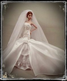PKPP-98 Princess Wedding Gown dress outfit for FASHION ROYALTY SILKSTONE  12