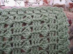 Grassy Moss Crocheted Afghan Pattern