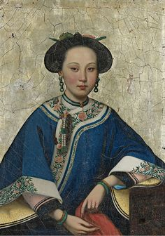 In the style of Lang Shining (Giuseppe Castiglione), Portrait of Xaing Fei, The Fragrant Concubine, Qing Dynasty, Century. Chinese Style, Chinese Art, Photografy Art, Geisha, Costume Ethnique, Art Asiatique, Art Japonais, Chinese Clothing, Ancient China