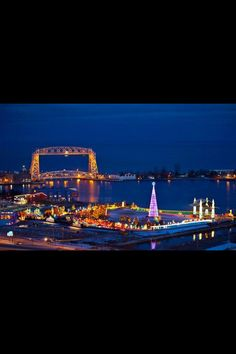 Duluth, Minnesota in the winter.