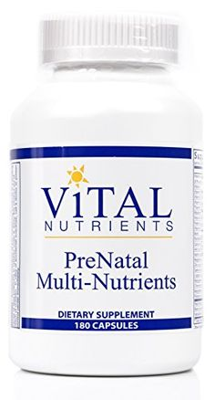 Vital Nutrients  PreNatal MultiNutrients  Womens MultiVitaminMineral Formula With Potent Antioxidants  180 Capsules -- Read more at the image link. (This is an affiliate link) #MultiVitaminsSupplements
