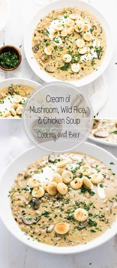 Cream of Mushroom, Wild Rice and Chicken Soup is the perfect comfort food to serve just about any time of year!
