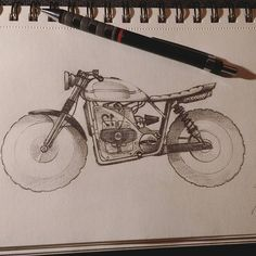Tracker flat Twin #design4ndmore  #sketch #sketchbook #drawing #pencil #paper #blackandwhite #vintage #BMW #motocycle #moto #flattwin #bicylindre #caferacer #tracker #scrambler #instadraw #Honda #bycicle #crossover #art #design #motor Mountain Bike Shop, Giant Bikes, Work Related Stress, Harry Potter Drawings, Sketchbook Drawings, Design Language, Cool Bikes, Animals For Kids, Videos