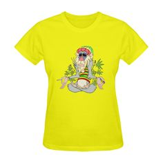 Hippie Ganja Guru Yellow Sunny Women