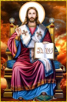 Since, then, you have been raised with Christ, set your hearts on things above… Pictures Of Jesus Christ, Religious Pictures, Religious Icons, Religious Art, Spiritual Pictures, Jesus Our Savior, King Jesus, Jesus Is Lord, Christus Pantokrator